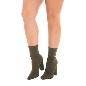 NWOT Olive Green Color Sock Boots
